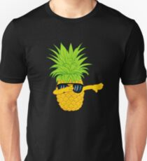 Swagger Dab Sunglasses Fruit Cool Pineapple Graphic T-shirt Summe Holidays Vacation Swag Dope Design Slim Fit T-Shirt