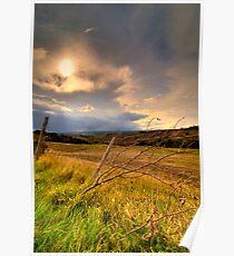 Asciano country, Tuscany, Italy Poster