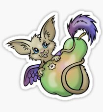 Yummy! - Fantasy Critter with Pear Sticker