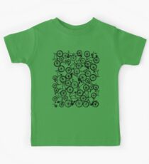Pile of Black Bicycles Kids Tee