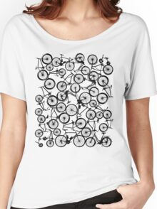 Pile of Black Bicycles Women's Relaxed Fit T-Shirt