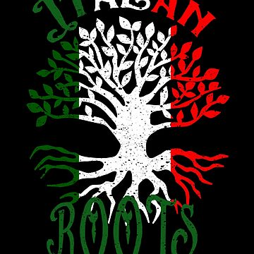 Italian Roots Italy Flag Family Tree Ancestry Heritage by LarkDesigns