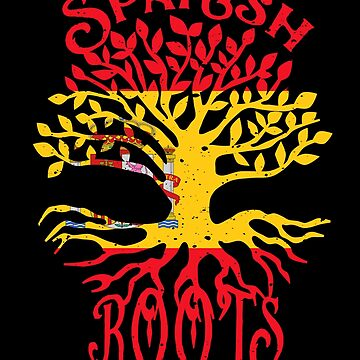 Spanish Roots Spain Flag Family Tree Ancestry Heritage by LarkDesigns