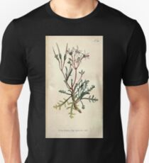 The Botanical magazine, or, Flower garden displayed by William Curtis V9 V10 1795 1796 0060 Pelagonium Ceratophyllum Horn Leaved Cranes Bill Unisex T-Shirt
