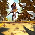 cooles Fahrrad mit süßem Mädchen von designersara