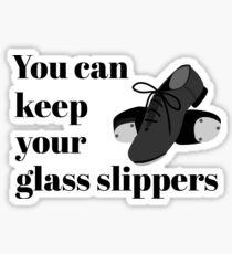 Lustiger Stepptanz-Student oder Lehrer-Glaspantoffelquadrat Sticker