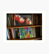 My lovely place at home with my works. Art Print