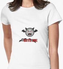 VAMPY BAT BITE ME Women's Fitted T-Shirt