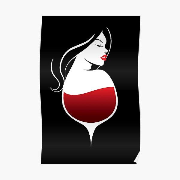 Femme Vin Rouge Poster