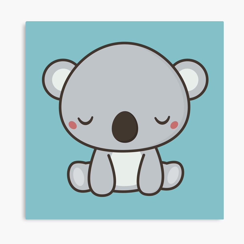 Kawaii Cute Koala Bear Design Canvas Print By Wordsberry Redbubble