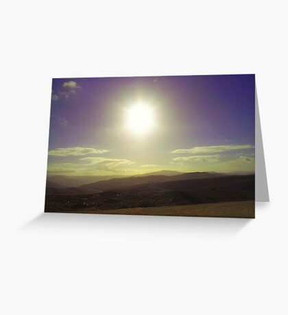 listen to the mountains breathe Greeting Card