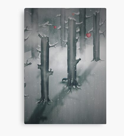 The Woods in Winter Canvas Print