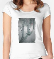 The Woods in Winter Women's Fitted Scoop T-Shirt