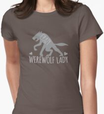 Crazy Werewolf Lady Womens Fitted T-Shirt