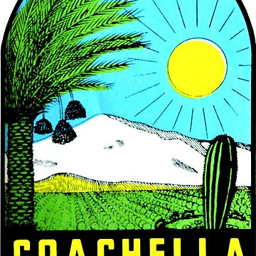 Calcomanía de viaje vintage de Coachella Valley California de hilda74