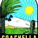 «Calcomanía de viaje vintage de Coachella Valley California» de hilda74