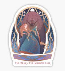 The Bear & The Maiden Fair Sticker