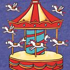 Merry-go-round illustration pattern by ClaireKang