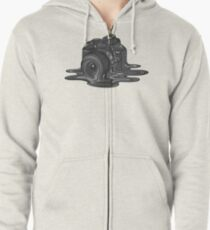 Camera Melt Zipped Hoodie
