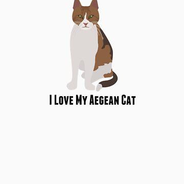 I Love My Aegean Cat by rodie9cooper6