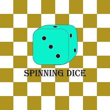 Spinning dice by bravotopo