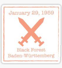 Black Forest Sticker