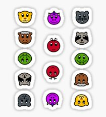 Français AnimalNoteHeads Stickers Sticker