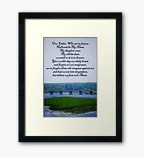 Lords Prayer Framed Print