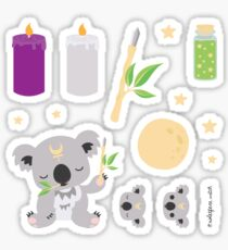 Cute Australian Koala Witchcraft Themed Stickers - (Pack 3) Sticker