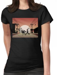 Sunset Suburban Womens Fitted T-Shirt