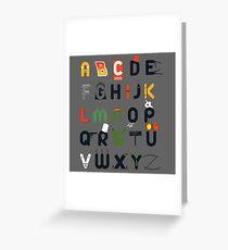 Pop culture alphabet Greeting Card