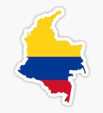 Flagge Karte von Kolumbien Sticker