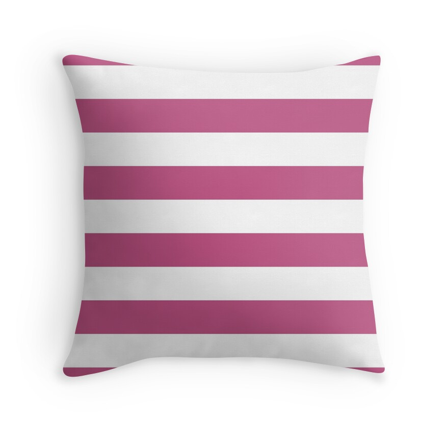 Large Bashful Pink and White Horizontal Cabana Tent Stripes