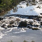 Tumbling water, froth & whirlpools! Barwon River, Geelong. Victoria.  by RitaBlom