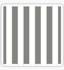 Large Battleship Gray and White Vertical Cabana Tent Stripes Sticker