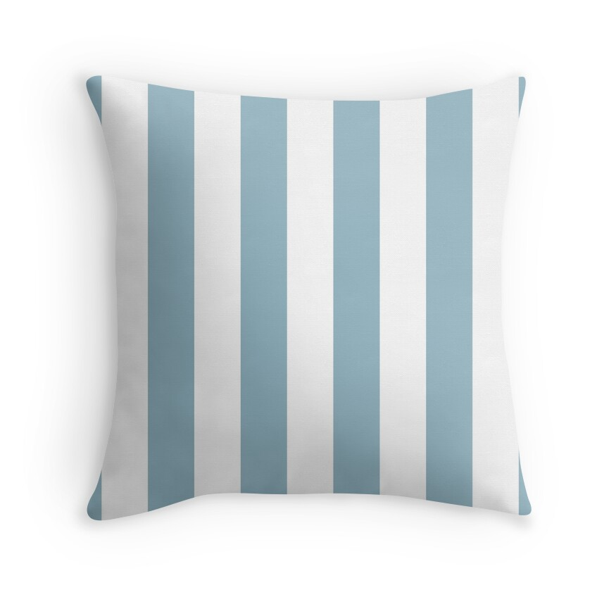 Large Baby Blue and White Vertical Cabana Tent Stripes