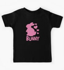 Cute pink BUNNY! rabbit  Kids Tee