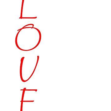 LOVE is Kind Christian Verse Patient Never Fails Bible God Jesus 1Cor 13 White by GabiBlaze