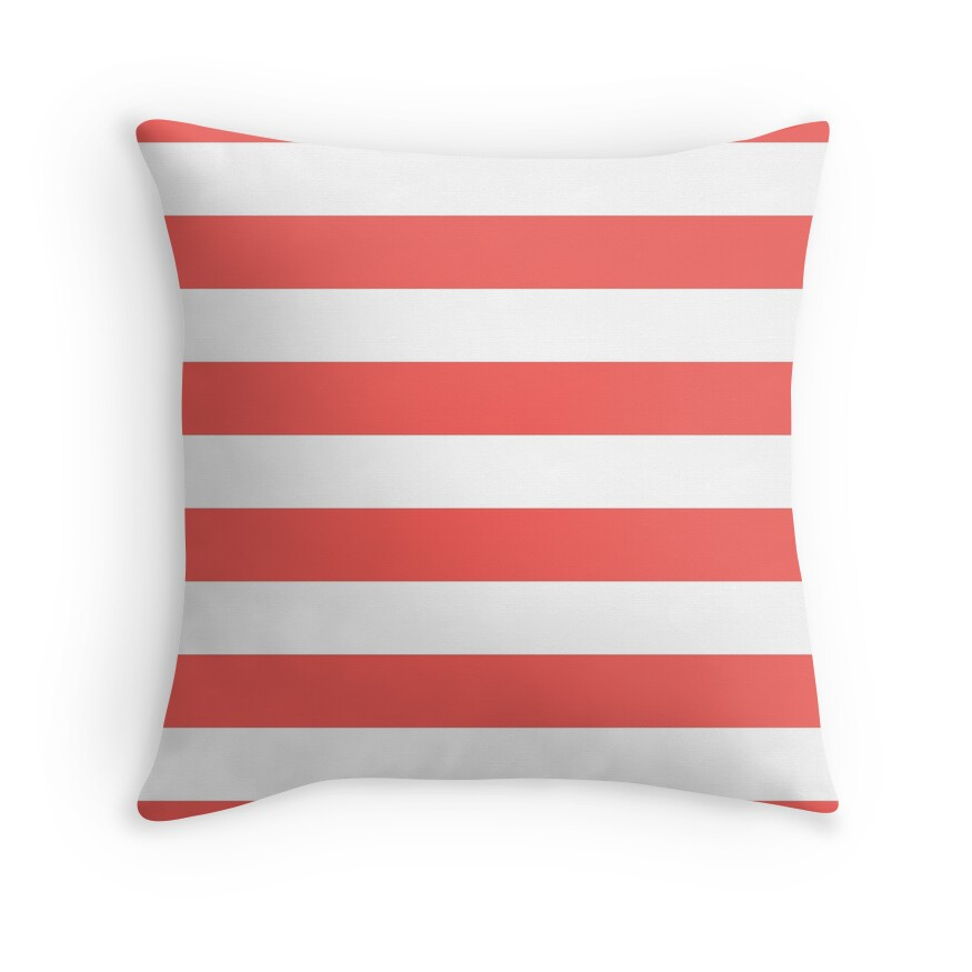 Large Bean Red and White Horizontal Cabana Tent Stripes