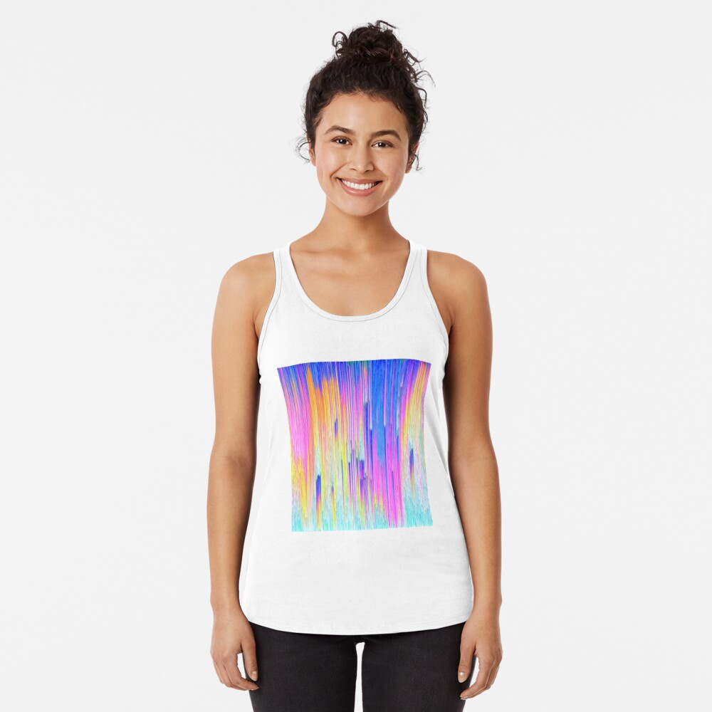 Abstract dripping digital paint Racerback Tank Top
