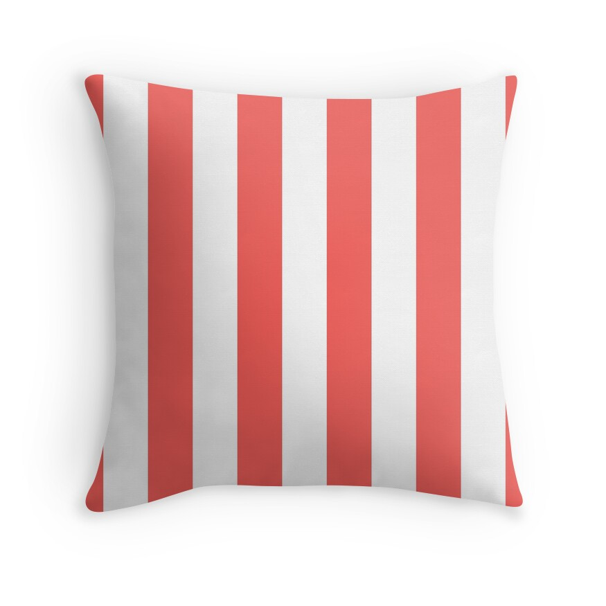 Large Bean Red and White Vertical Cabana Tent Stripes