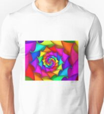 Psychedelic Rainbow Spiral  T-Shirt