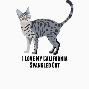 I Love My California Spangled Cat by rodie9cooper6