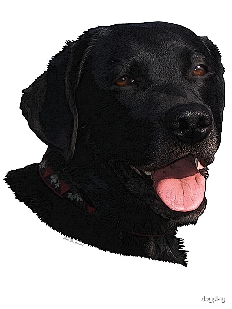 Labrador Retriever Head (Black) by dogplay
