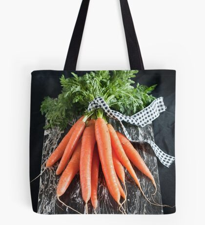 Carrots on Black Tote Bag