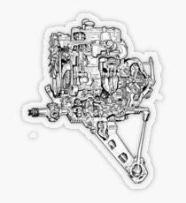 A-Series Transverse Engine Transparent Sticker