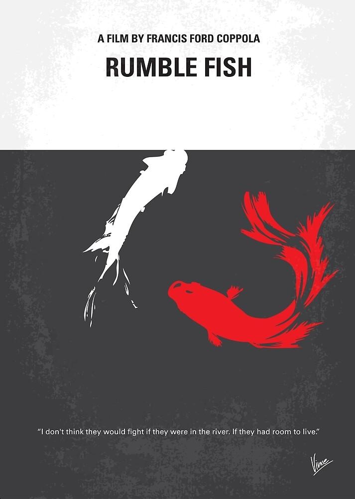 No073 Mein minimales Filmplakat meines Rumblefisches von ChungKong Art