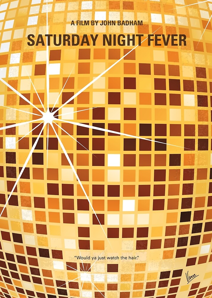 No074 Mein Samstagabendfieber minimales Filmplakat von ChungKong Art