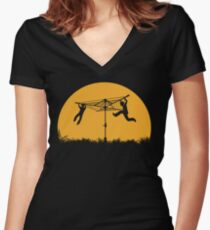Merry Go Sunset Women's Fitted V-Neck T-Shirt