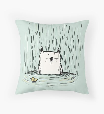 Soggy Cat Throw Pillow